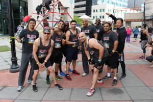Boot Camp Workouts at Men's Fitness City Challenge Race - The Guys!