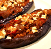 Roasted and Stuffed Eggplant